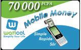 Transfert de 70.000 Fcfa